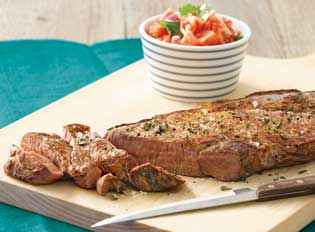 B.B.Q Rump Steak with Salsa